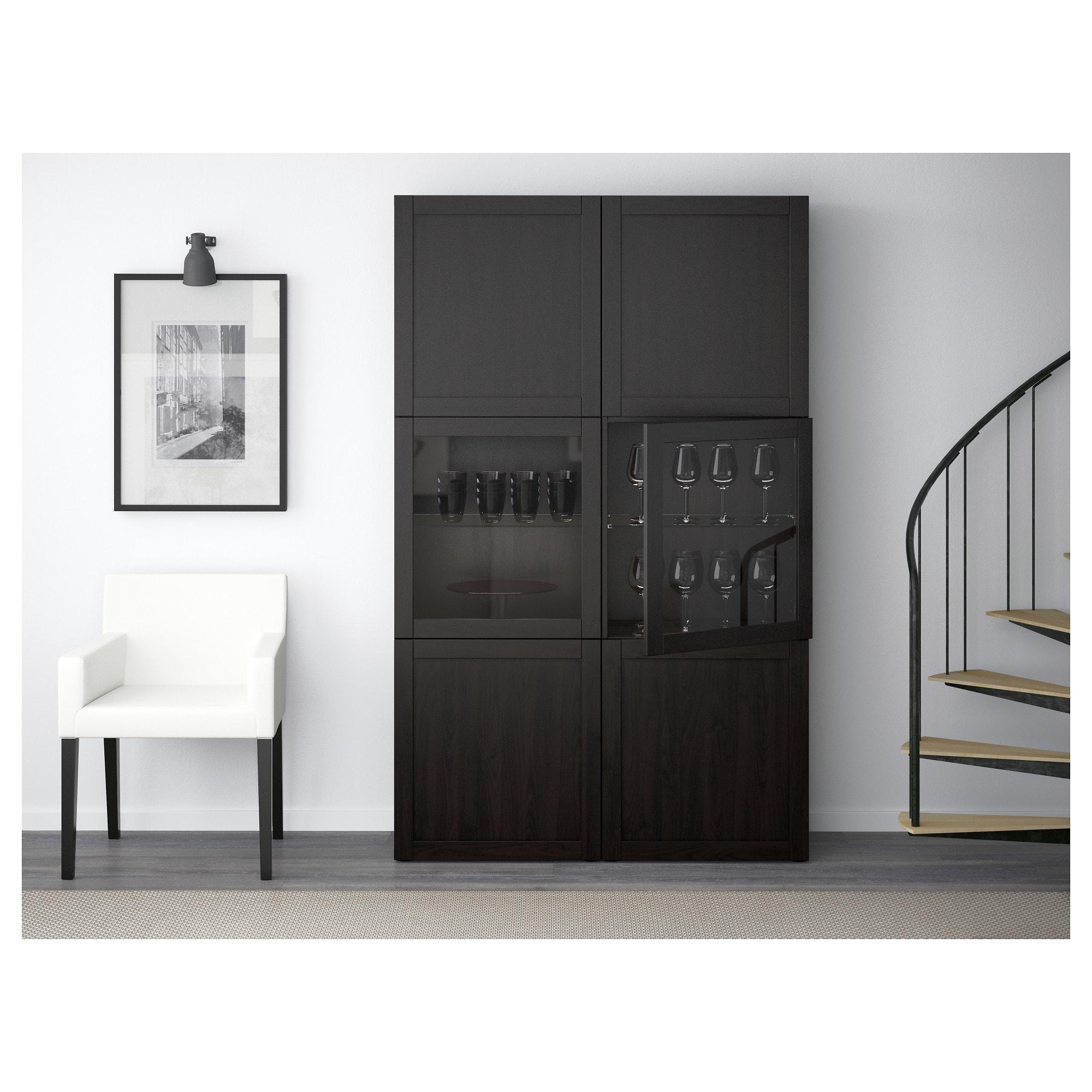 Ikea Besta Storage Combination W Glass Doors Hanviken Sindvik In