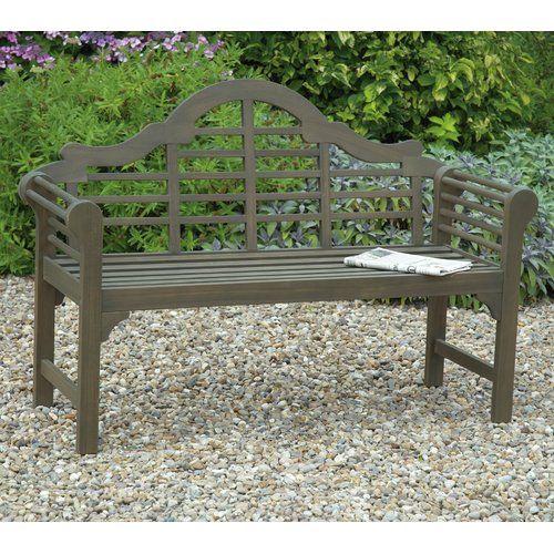 Sol 72 Outdoor Shepha Wooden Bench Concrete Garden Bench Garden