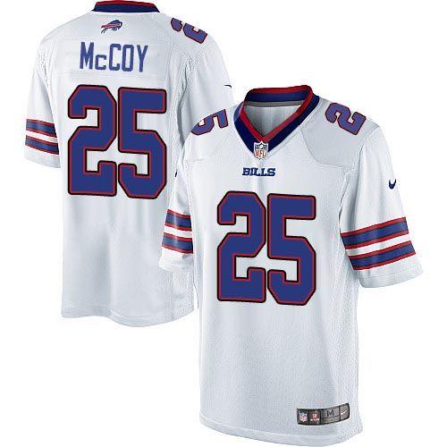 a986b14b8b7db Nike Limited LeSean McCoy White Youth Jersey - Buffalo Bills #25 NFL ...