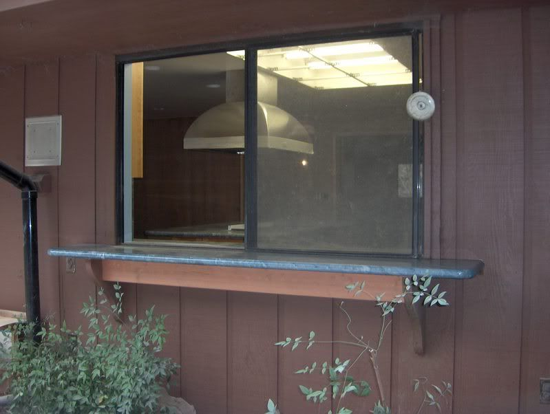 Window Pass Through From Kitchen To Outside (?)looks Bad With Slider