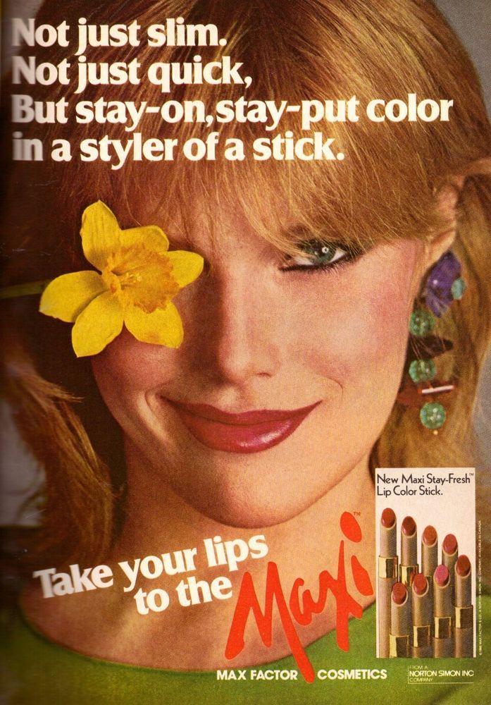 1980 Max Factor Maxi Patti Hansen Makeup Print