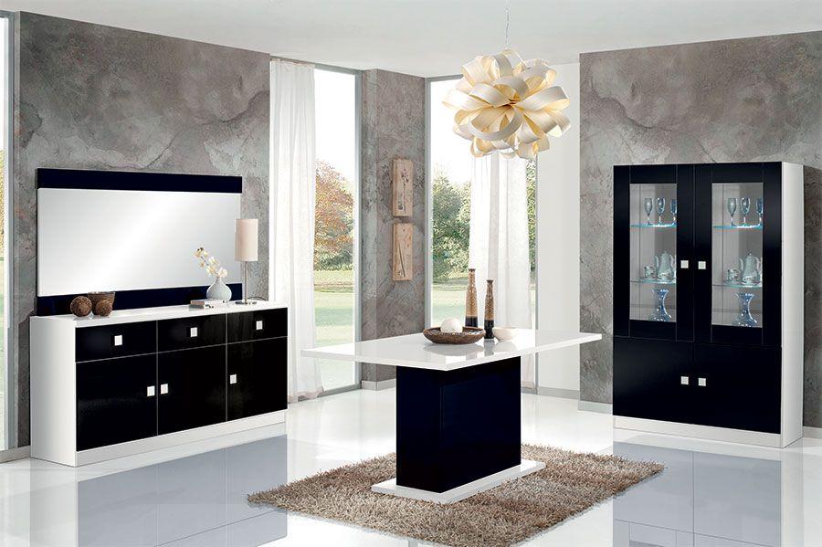 salle a manger design noir et blanc