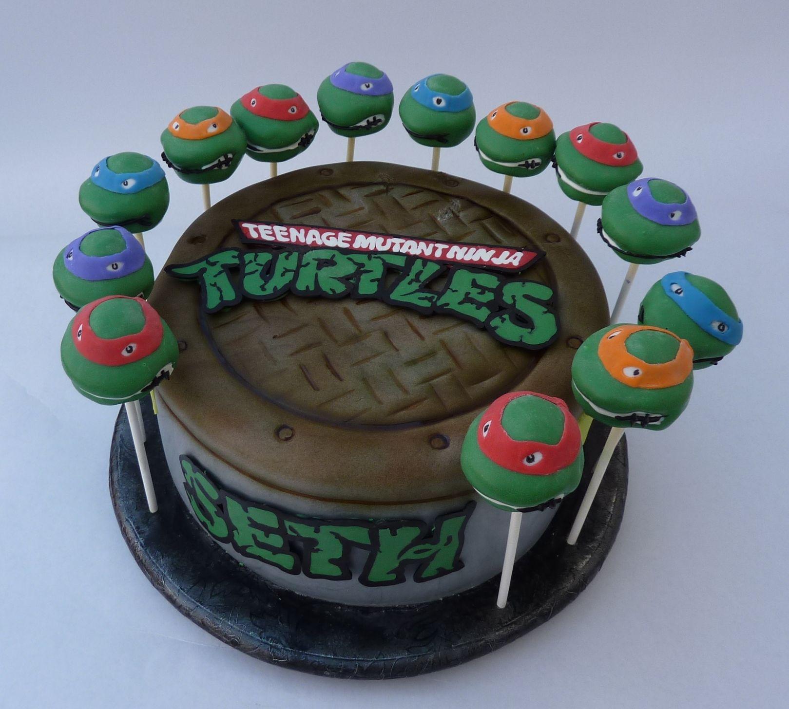 TMNT birthday cake Childrens Birthday Cakes Food Pinterest