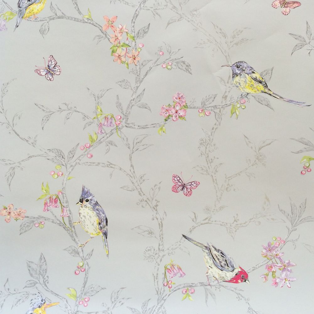 This fabulous bird and branch statement wallpaper from for Bird wallpaper home decor