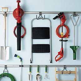 Elfa Utility Lawn Equipment Hook Garage Organization Tips Garage Organization Garage Storage Organization