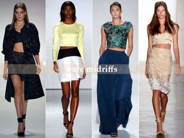Bare Midriffs - Top Runway Trends for Spring/ Summer 2013