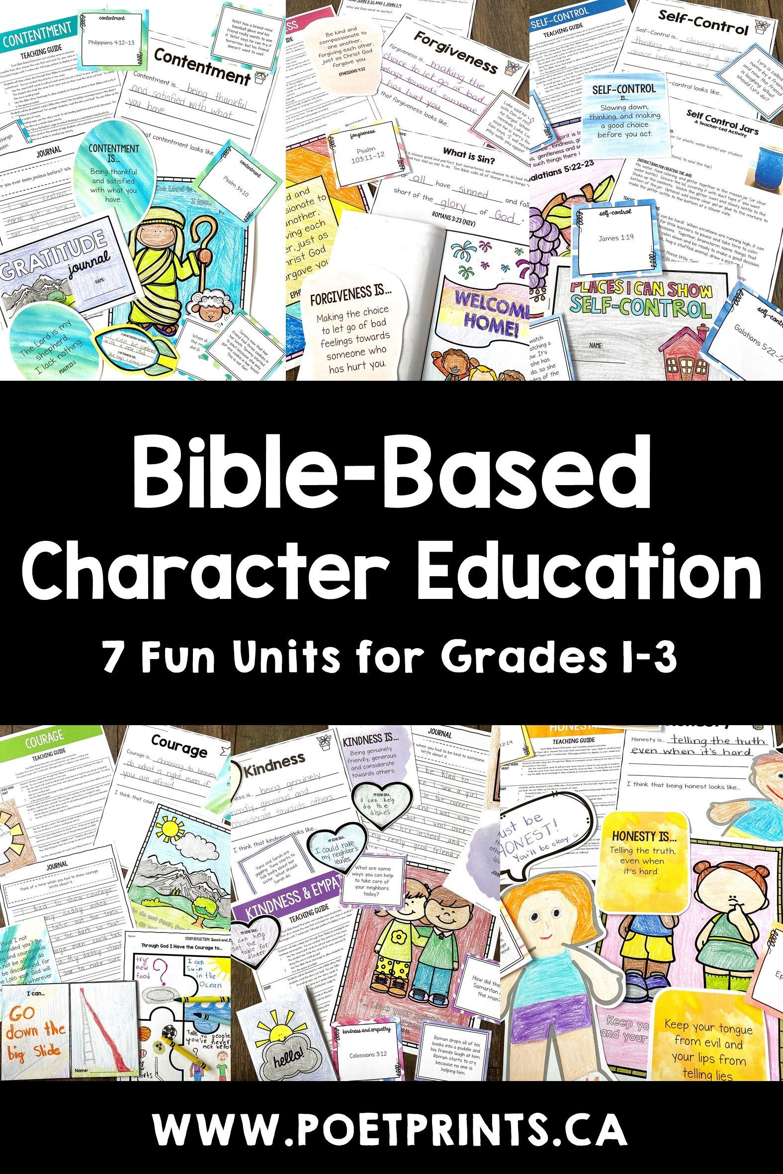 Bible Character Education Lessons Bundle In