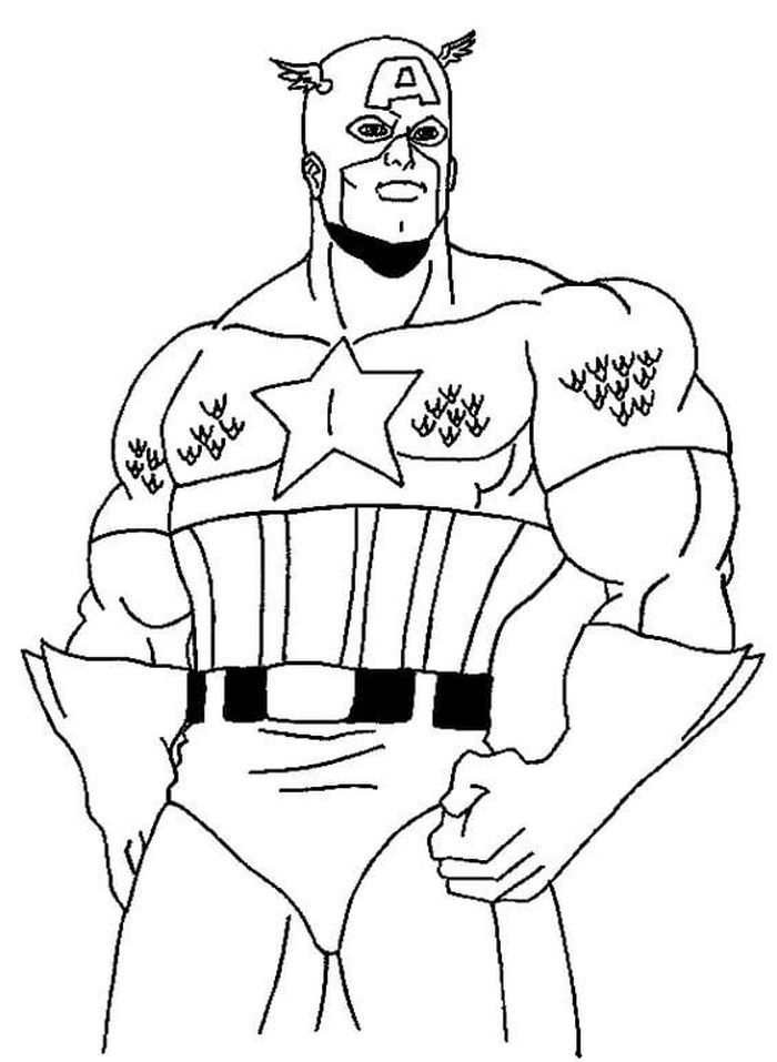 Captain America Printable Coloring Pages in 2020 | Captain ...