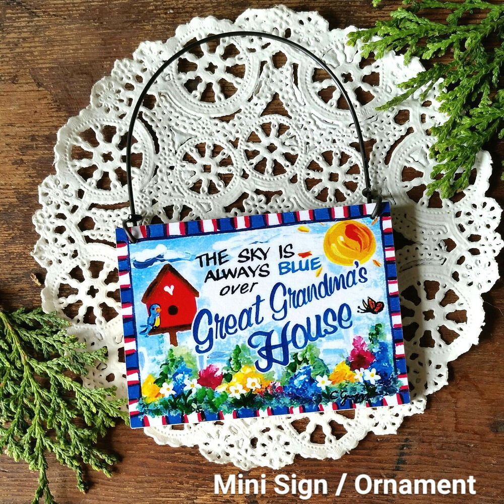 DecoWords Mini Sign World/'s BEST GRANDMA Wooden Ornament Everyday Deco USA New