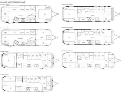 Airstream Floor Plans Airstream Classic Limited Travel