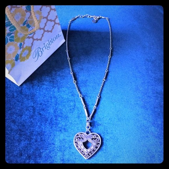 Authentic Brighton heart necklace Brighton is known for its exquisitely crafted jewelry. This beautiful heart necklace comes with Brighton gift bag❤️ Brighton Jewelry Necklaces