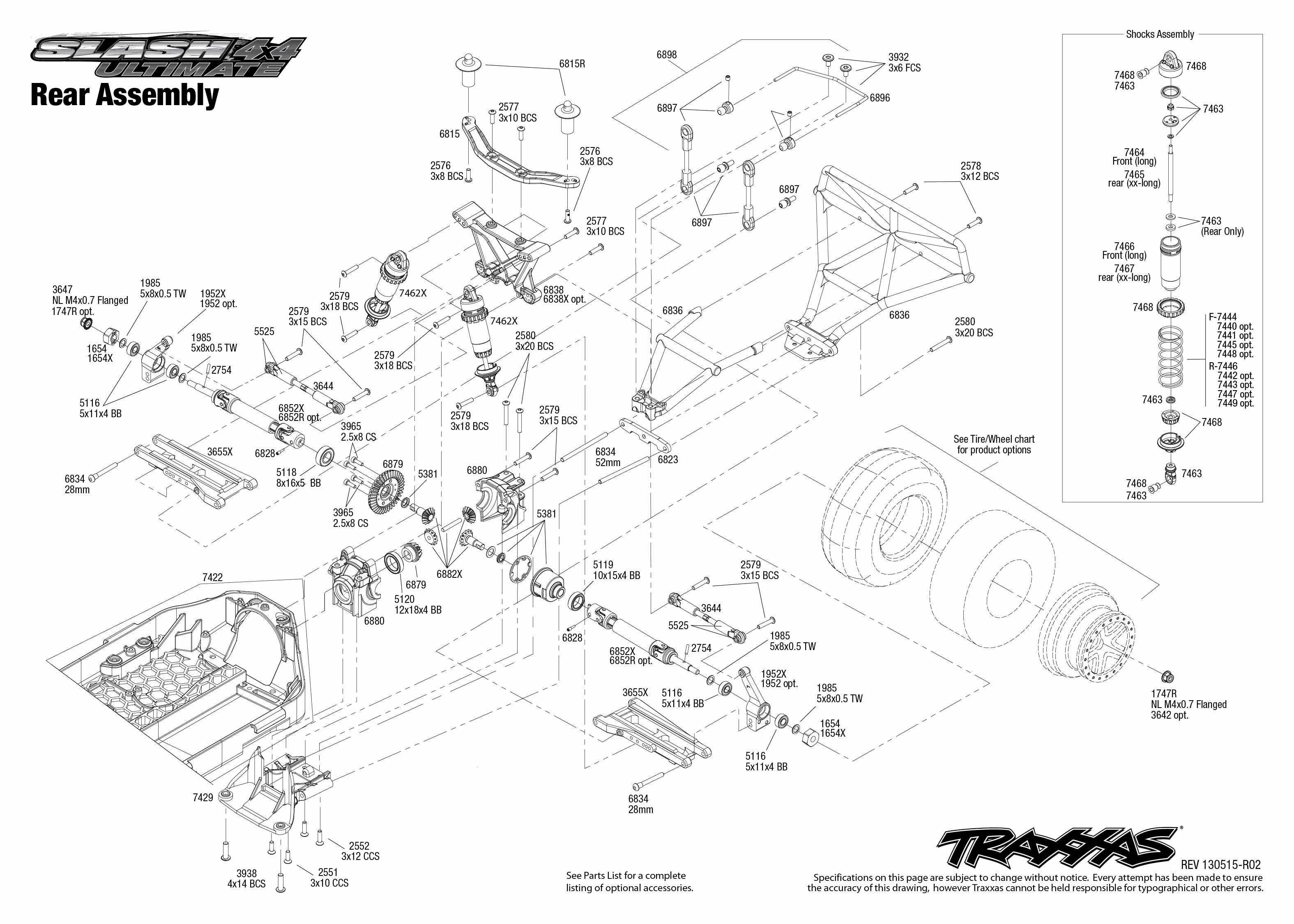 6807L Rear Assembly