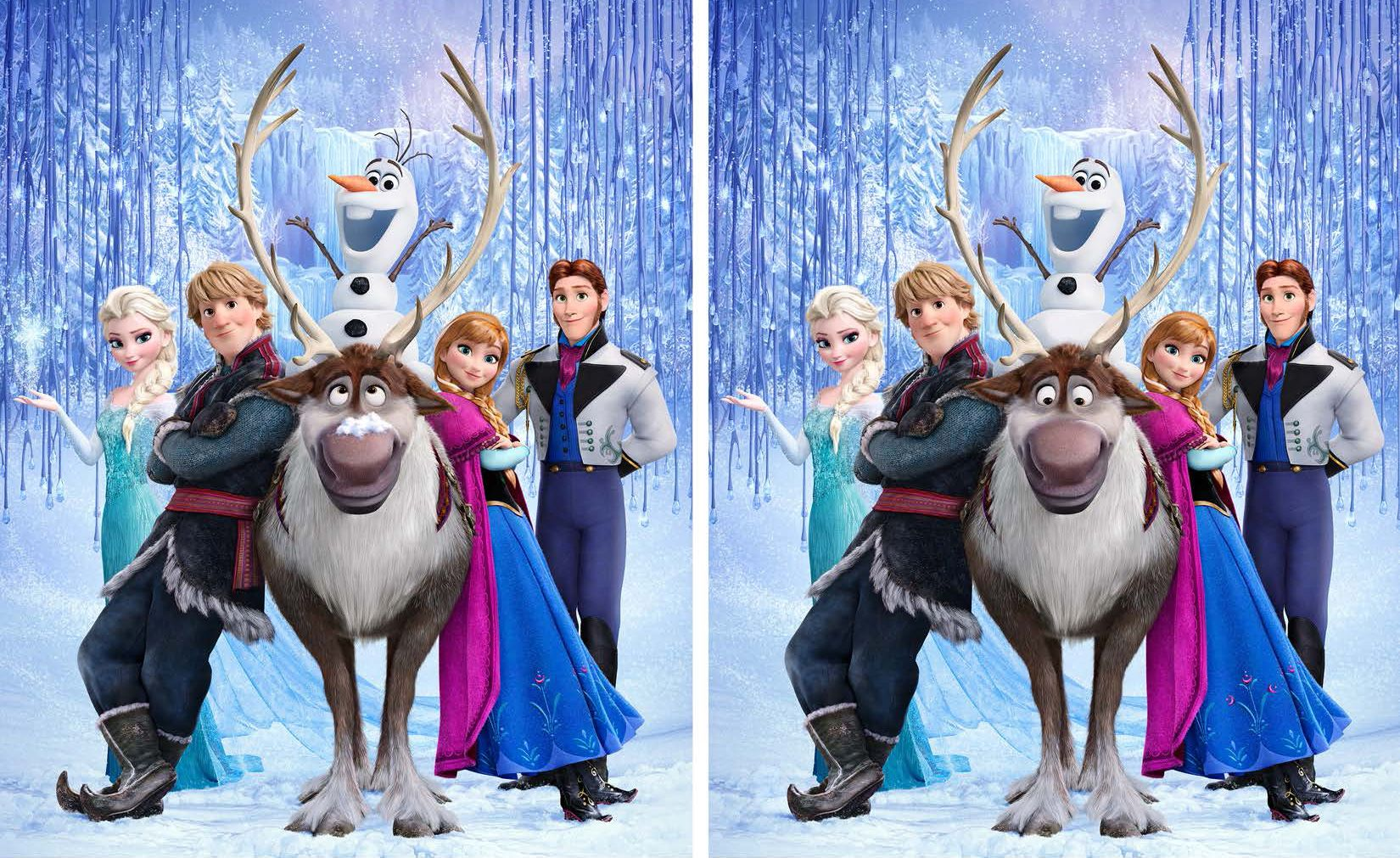 Spot The Difference Disney S Frozen Free Printables