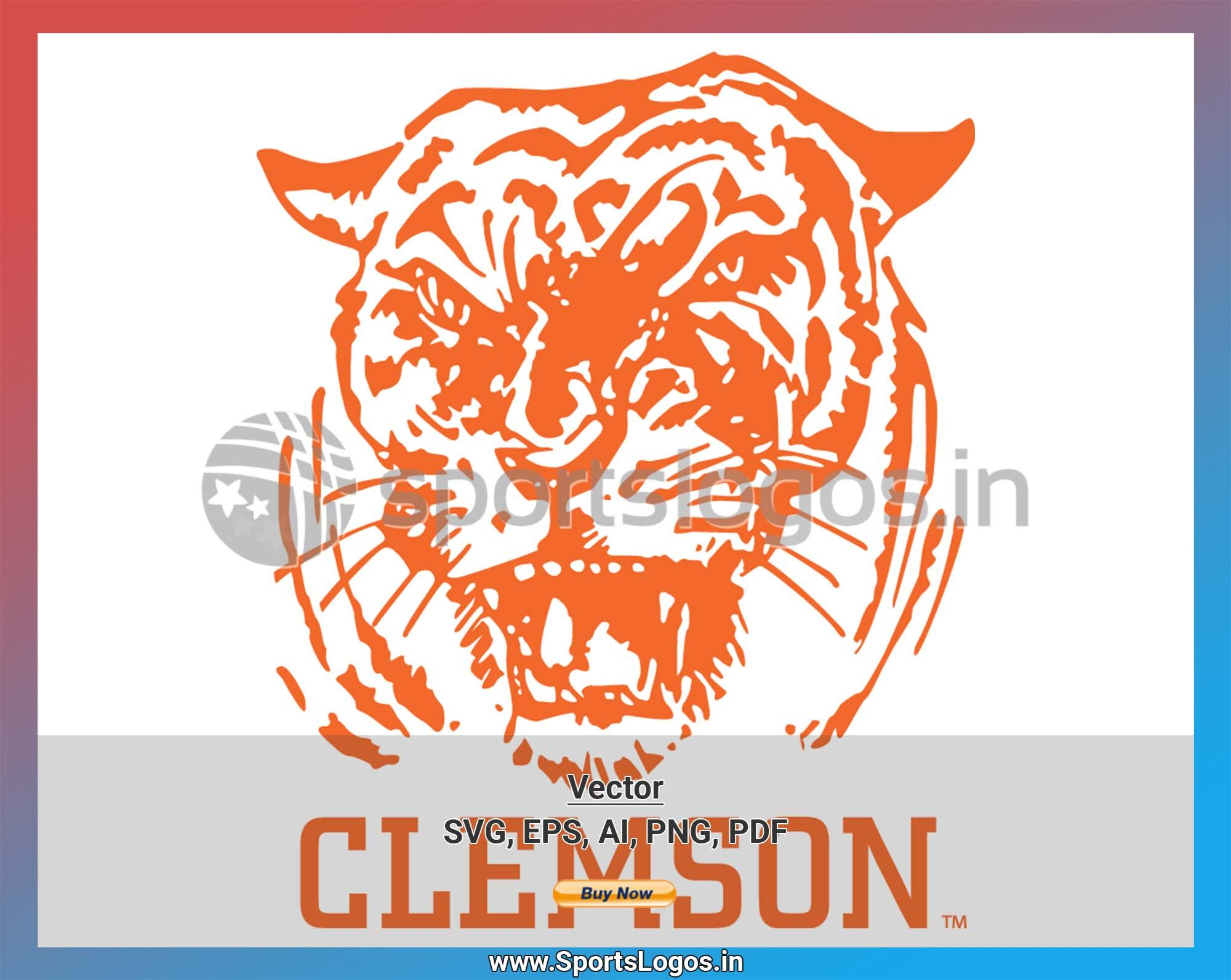 Clemson Tigers College Sports Vector Svg Logo In 5 Formats Spln000903 Sports Logos Embroidery Vector For Nfl Nba Nhl Mlb Milb And More Clemson Clemson Tigers Clemson Tigers Football