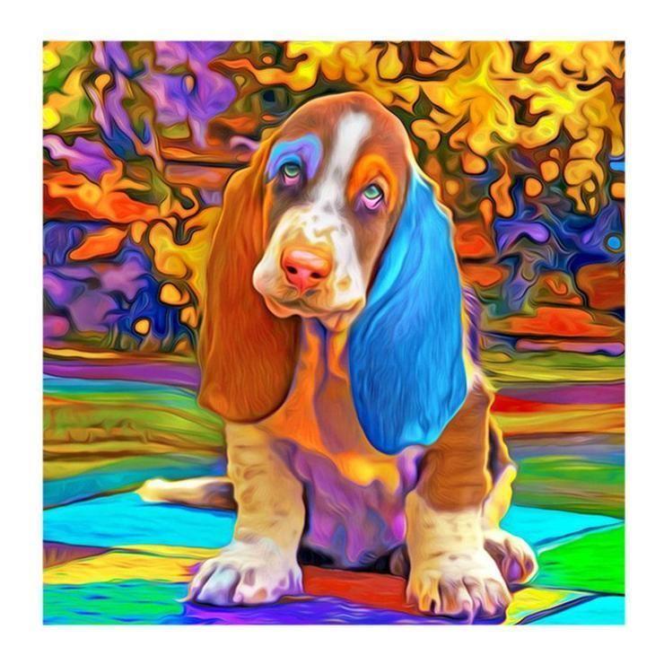 5d Full Diamond Painting Kits Best Watercolor Pet Dog Qb5469