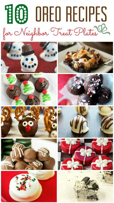 10 OREO Treat Recipes that are perfect for Holiday Neighbor Plates. You will be their favorite neighbor on the block!