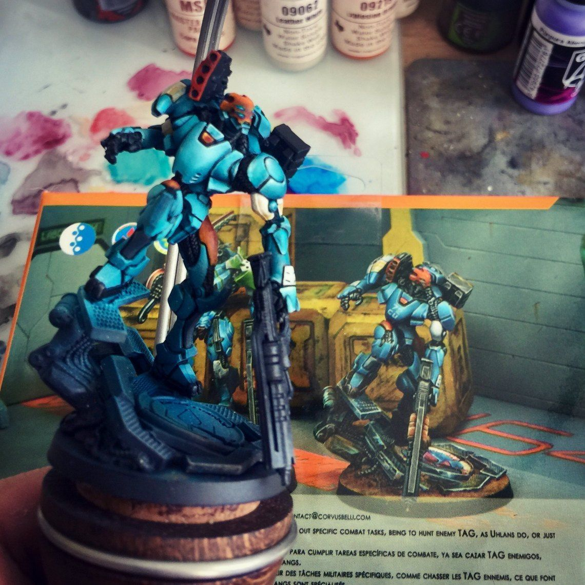 how to paint miniatures book