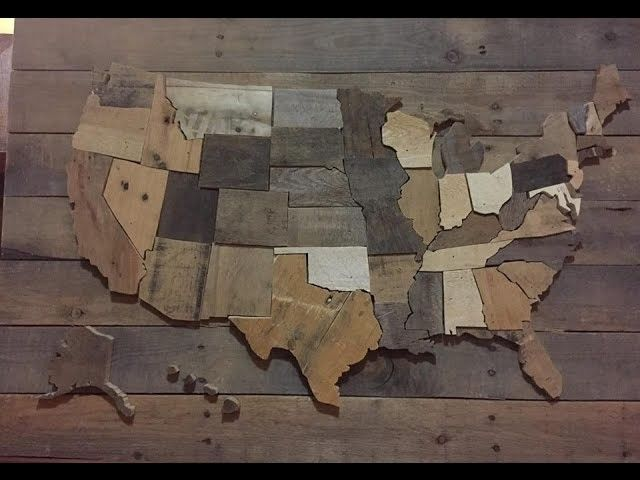 DIY United States Wall Map - USA decor pallet wood | DIY Home Decor ...