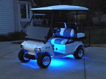 We Can Also Custom Golf Carts Great Idea For All Them Fans Who Go Camping They Never Have Enough Lights On Golf Carts Golf Cart Accessories Custom Golf Carts