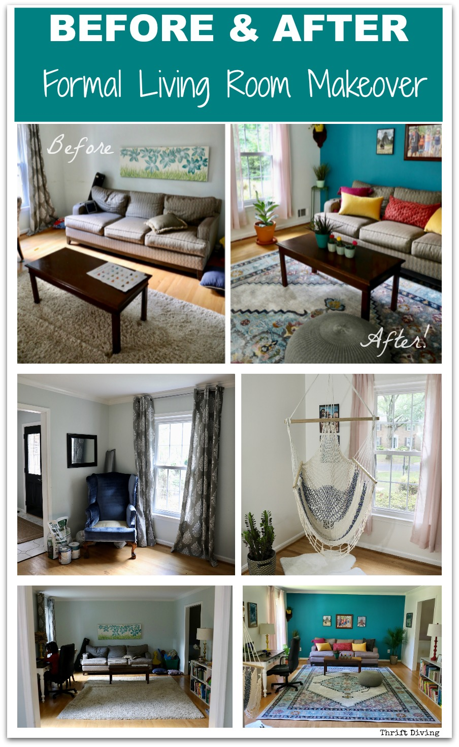 Formal Living Room: Before and After! | Living room ...