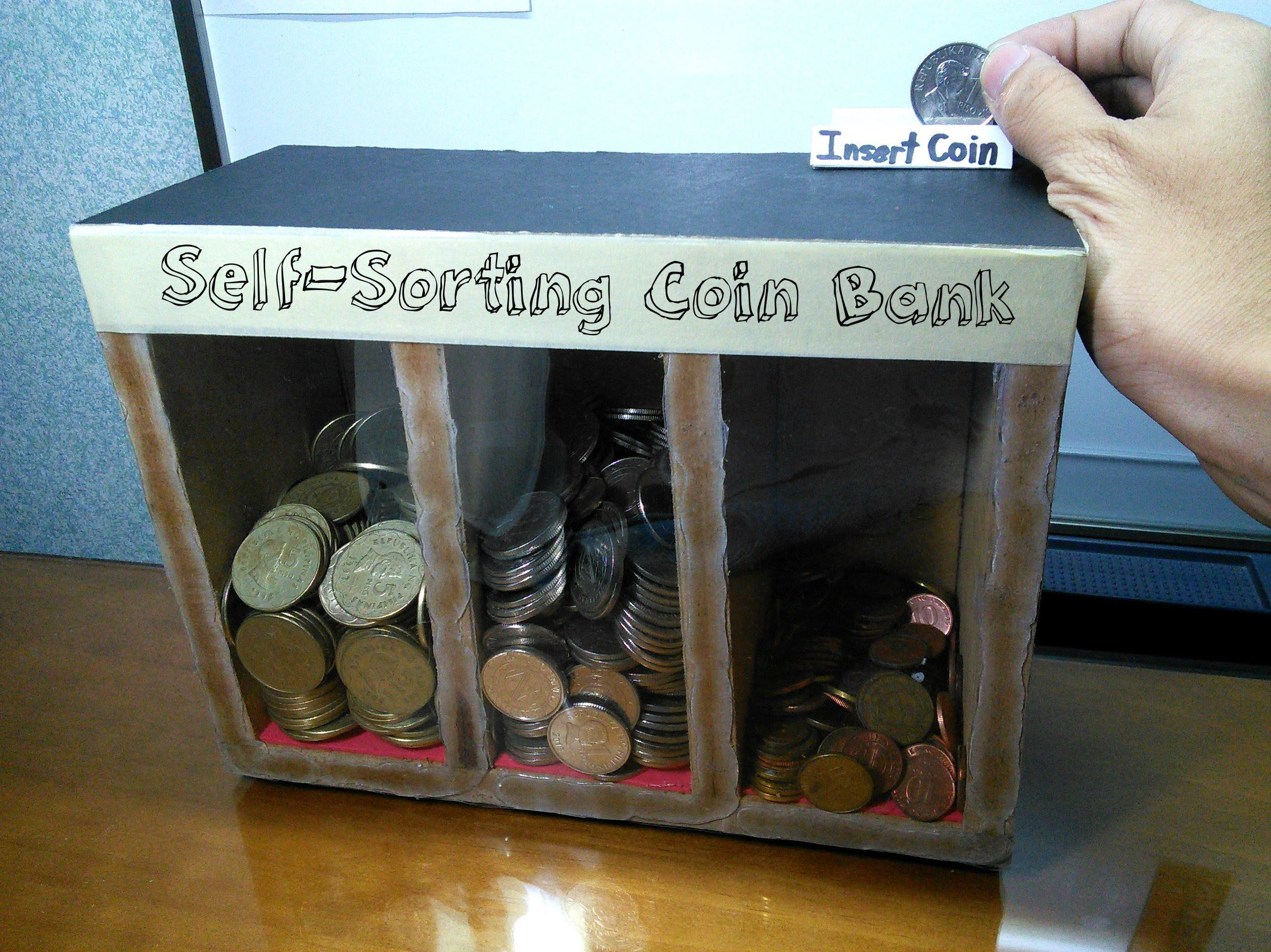 Diy self sorting coin bank diy pinterest wood toys diys and woodworking - Coin sorting piggy bank ...