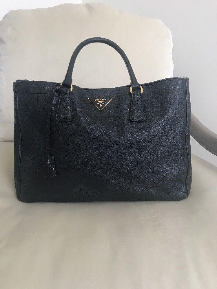 dad494bda45c Prada Saffiano Tote Bag Black 100% Authentic  350.0