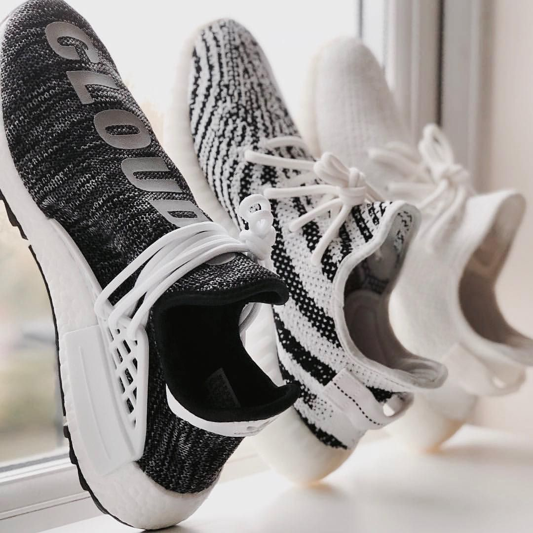 7453e1415e5934 Human race and yeezy zebra and cream whites | ♡ Pinterest ~  @strawberrymurlk ♡