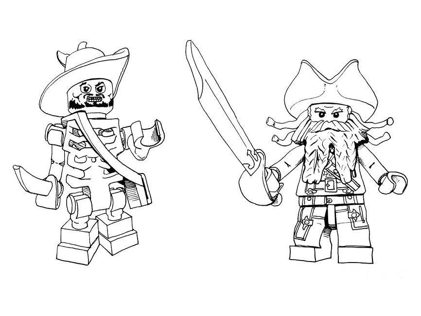 Lego Jack Sparrow Coloring Pages