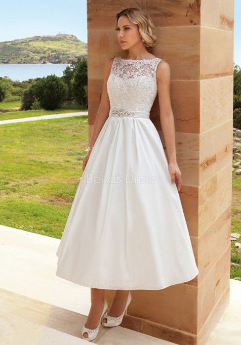 tea length wedding dresses for older women - Google Search | wedding ...