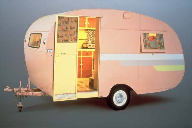 oh its a lovely pink caravan