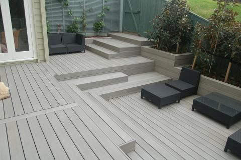 Staggered Deck Steps Staining Deck Composite Decking Timber Deck