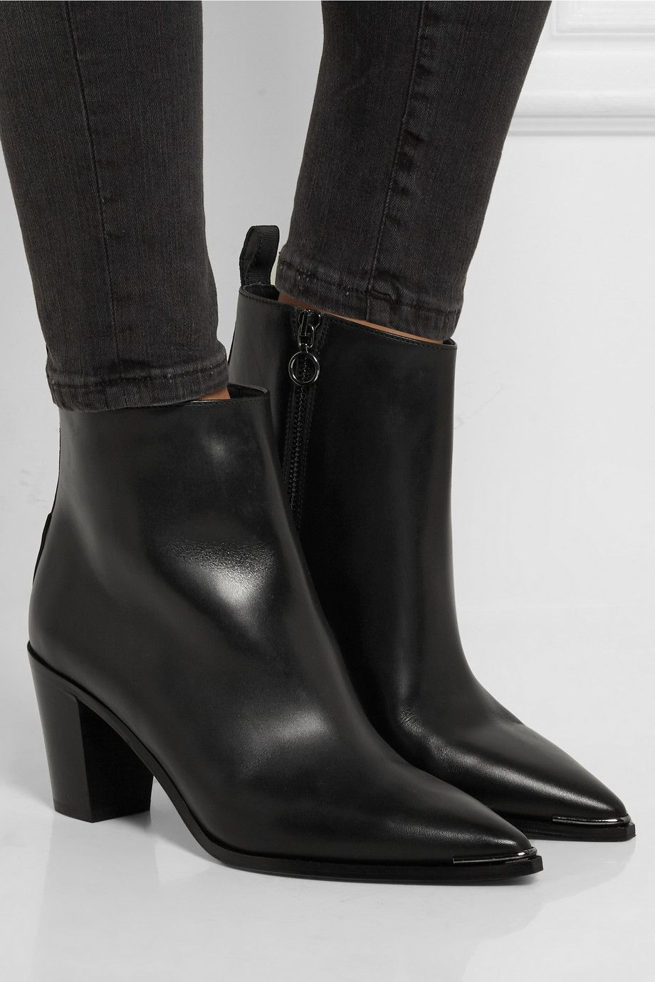 ACNE STUDIOS Loma leather ankle boots   SHOES   Boots, Shoes ... 32f74827ab5