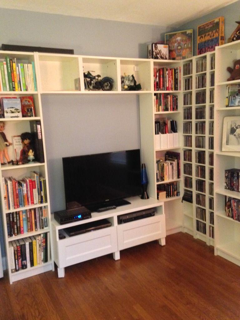 Billy Bookcase Desk: Updated Billy/Benno Bookcase Combo
