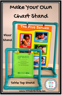 Make Your Own Chart Stands With Directions For A Tabletop Stand And Floor Poster Fun