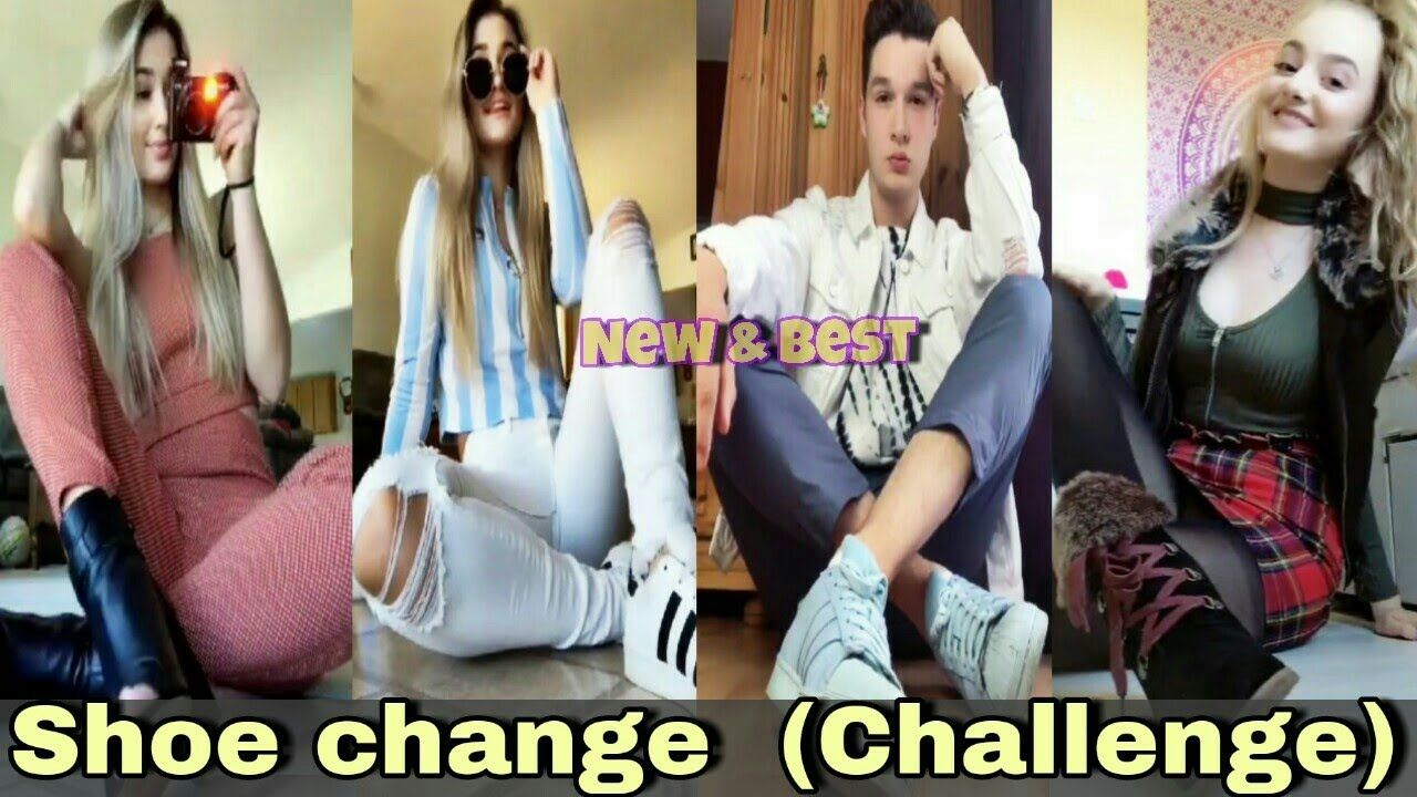 Shoe change (Musically) Challenge | Shoe change Tik tok 2018 (Girls