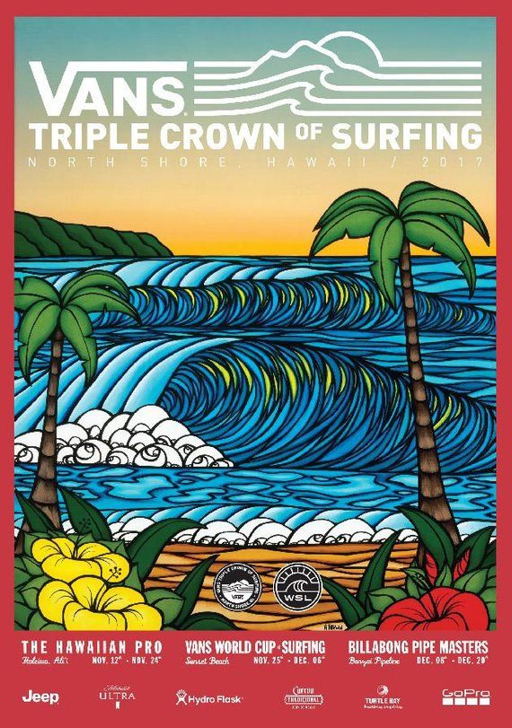 e0601a3e52 2017 VANS Triple Crown of Surfing Print - Surfing Poster in 2019 ...