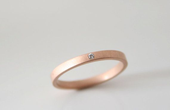 Love This Band No Stone Though Matte Rose Rose Gold Band Ring Gold Rings Minimalist Engagement Ring