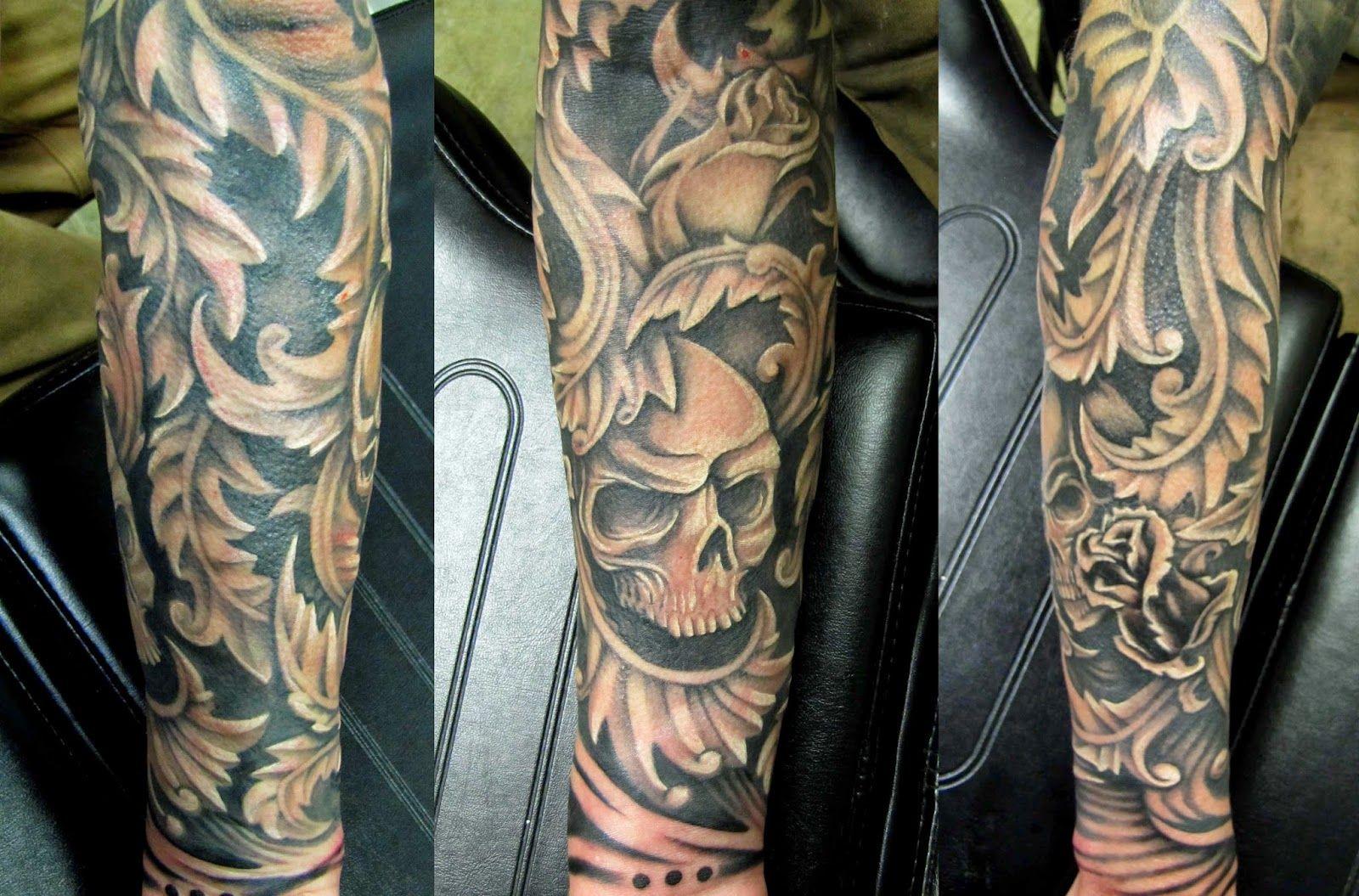 pics for filigree tattoo sleeve. Black Bedroom Furniture Sets. Home Design Ideas