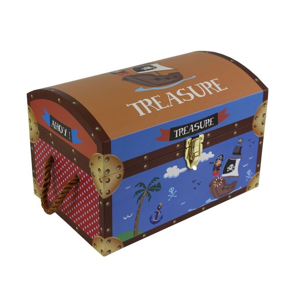 Kids Childrenu0027s Pirate Treasure Chests Cardboard Toy Storage Box Trunk  Medium BN Toy Storage Boxes,