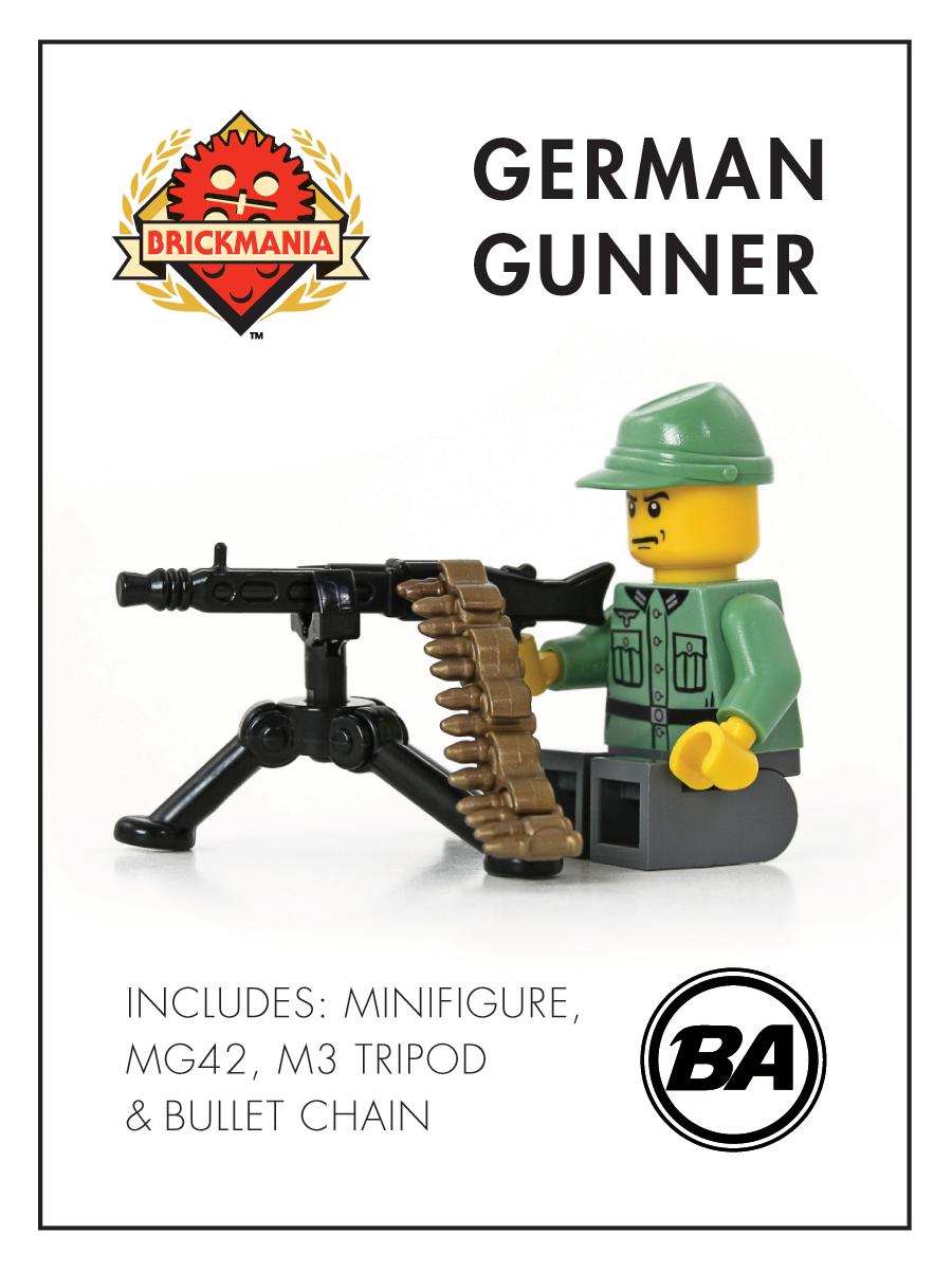 R Lego ww2 ww1 Custom Brickmania Axis Army Soldier Made With Real Lego