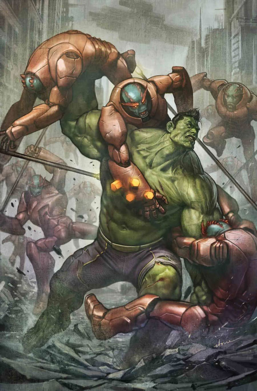 #Hulk #Fan #Art. (THE TOTALLY AWESOME HULK Vol.1 #18 Cover) By: STONEHOUSE. ÅWESOMENESS!!!™ ÅÅÅ+