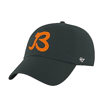 "Chicago Bears Orange Adjustable Hat with Script ""B"" Logo by 47 ..."