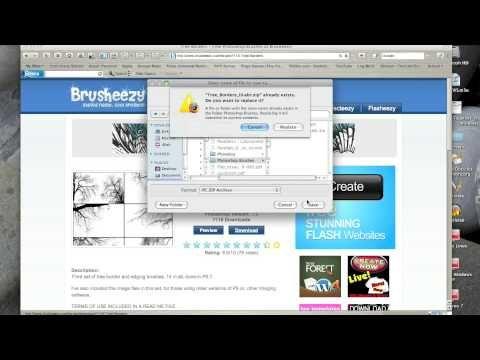 ▶ Photoshop Elements Installing Brushes MAC - YouTube