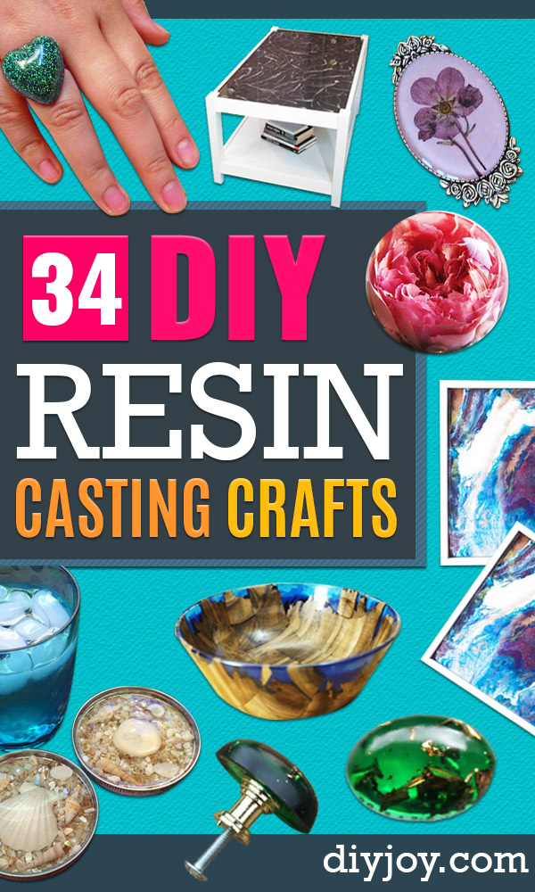 34 Diy Resin Casting Crafts In 2020