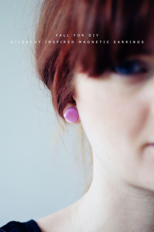 Магнитные серьги в стиле DIY Givenchy |  Падение для DIY