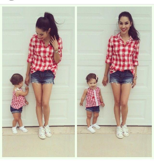 ea789dc80a86 Short y camisa | Gemelitas | Ropa mama e hijo, Ropa madre e hija y ...