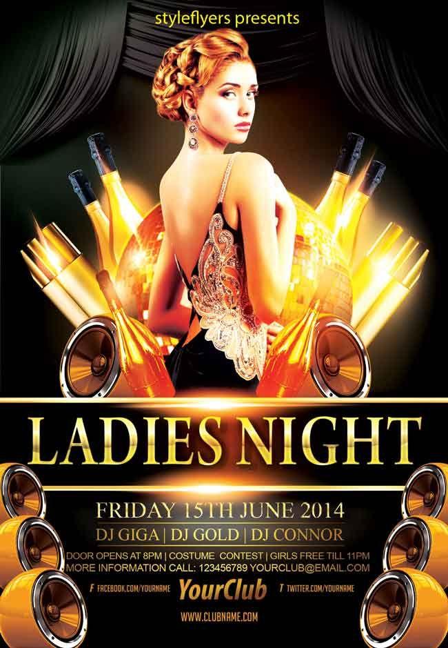 Ladies Night Party Flyer Psd Pinterest Psd Flyer Templates