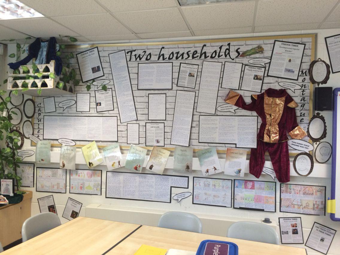 Shakespeare Romeo And Juliet Writing Display