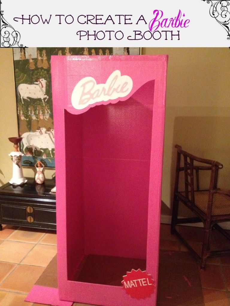 How To Make A Photo Booth For Barbie Party Theme