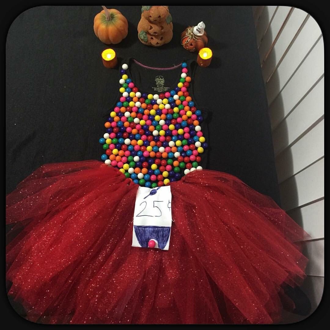 DIY Gumball Machine Costume Cute halloween costumes, Diy